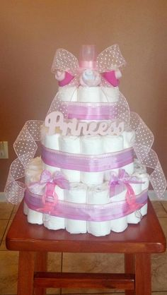 TOWEL BABY SHOWER CAKES | ... made for my past co-worker, Terry, who had a baby shower to go to