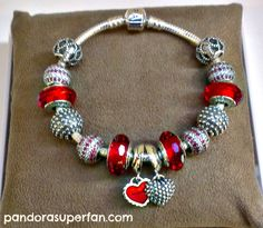 Tendance Bracelets Pandora Rocks Red The Facetted Murano And Mother Daughter Charm Work Well Toge Idée Description
