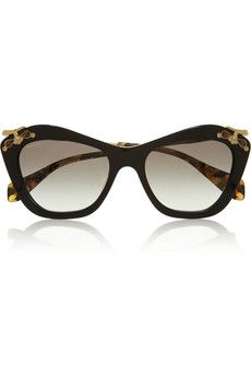 8036af76e098 Miu Miu Embellished cat eye acetate sunglasses | NET-A-PORTER Belt Purse,