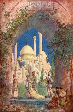 """Rubáiyát of Omar Khayyám"". Illustration by Willy Pogány (1909)"