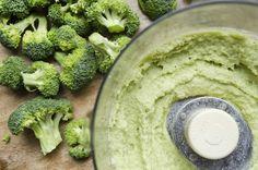 Broccoli Stem and Feta Hummus