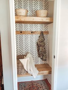 Front Closet, Entry Closet, Hall Closet, Home Organization, Coat Closet Organization, Home Reno, Home And Living, Living Room, Home Decor Inspiration