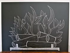 How to Make a Chalkboard Fireplace With Mantel | Made + Remade