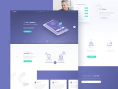Hi guys,   I worked on landing page for Elevio with guys from @PLATFORM a few months ago. Anyhow check the attachment  for more details .   Follow me on Instagram  Have a nice week.