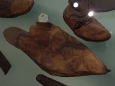 14th century shoe with leaf pattern.  Museum of London.