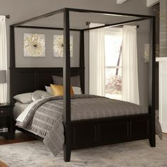 Home Styles Bedford Canopy Bed & Reviews   Wayfair  $690.00 4-5stars--this is beautiful..A CONSIDERATION> <3