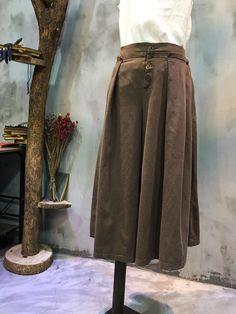 Elastic Waist Wide-leg Pants Womans Comfortable Linen Cropped Pants    #pants #widelegs #linen #baggy #trousers #coffee #amazing #boutique #online