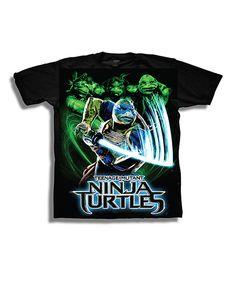 Look at this #zulilyfind! Black Leonardo TMNT Movie Tee - Boys by Teenage Mutant Ninja Turtles #zulilyfinds