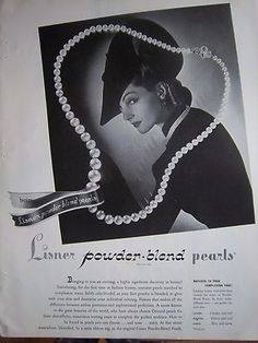 1940 Vintage Lisner Powder Blend Pearls Necklace Jewelry