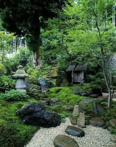 Gorgeous Chinese Garden Design for Your Backyard. Chinese garden style is easily recognizable when viewing the moon door (circular). This is a very distinctive feature. Then walk through a winding pat. Small Japanese Garden, Japanese Garden Design, Japanese Landscape, Japanese Gardens, Japanese Plants, Asian Garden, Chinese Garden, Moss Garden, Bonsai Garden