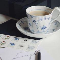 "2,410 Likes, 11 Comments - Royal Copenhagen (@royalcopenhagen) on Instagram: ""The essential coffee break @birklykke #RoyalCopenhagen #BlueFlutedPlain"""