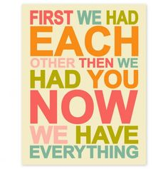 First We Had Each Other - Precious Prints from Finny and Zook