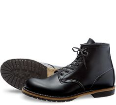 "Red Wing Shoes Style No. 9014 : Beckman Round 6"" Boot  \\  Black Featherstone Leather  \\"