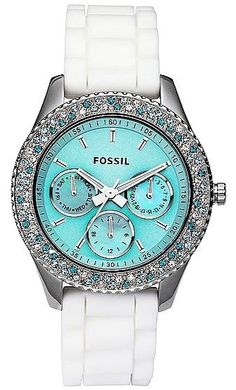 #Tiffany Blue Colour faced Fossil Watch - #LuxurydotCom