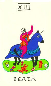 Death - Niki de Saint Phalle Tarot Tarot Death, Conceptual Art, Archetypes, Disney Characters, Fictional Characters, Sculpture, Decks, Choices, Playing Cards