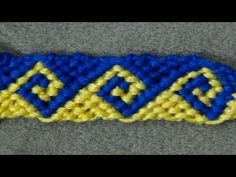 ► Friendship Bracelet Tutorial - Intermediate - The Greek Wave - YouTube