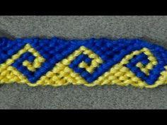 ▶ ► Friendship Bracelet Tutorial 34 - Intermediate - The Greek Wave - YouTube