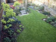 Backyard With Generous Flower Beds