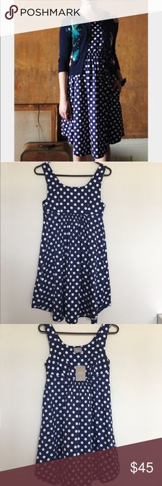 """{Anthropologie} Dixie Dot dress by Vanessa Virginia. Cute polka dot sundress that is so classic and versatile. Brand new with tag. Measures at 34"""" long. Dress has pockets! Anthropologie Dresses"""