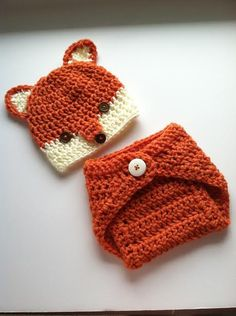 Fox Newborn Photo Prop Set