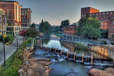 Downtown Falls Park Greenville South Carolina