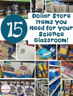 15 Items You Need from the Dollar Store for STEM Ideas for supplies for your STEM or Science classroom that can be purchased at the dollar store! This post is all about the things you need the most and a couple of things you should buy somewhere else! Sixth Grade Science, Kindergarten Science, Teaching Science, Science Education, Elementary Science Classroom, Physical Science, Stem Preschool, Physics Classroom, Elementary Education