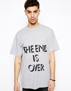 "Bild 1 von Cheap Monday – T-Shirt mit ""The End Is Over""-Aufdruck"