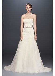 3260c1157f358 Long A-Line Formal Wedding Dress - David's Bridal Collection Long Wedding  Dresses, Formal