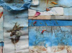 Eco-dye, rusted, indigo-dipped paper - Elizabeth Bunsen