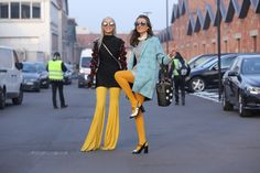 MFW DAY 1: Yellow flares and embellished sleeves - Alina Ceusan
