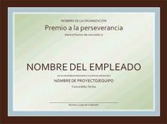 Modelo, formato, ejemplo, plantilla, Diploma Certificado de reconocimiento al trabajador