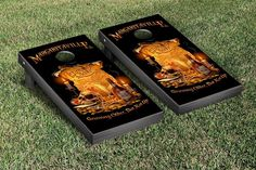 Cornhole Board Set - JImmy Buffet Margaritaville Growing Older But Not Up