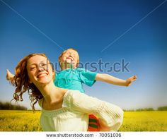 stock photo : Mother and Son Having Fun