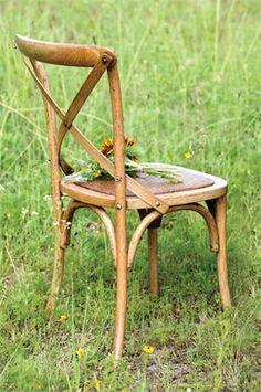 Wooden Cross-Back Chair
