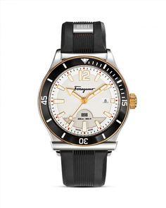 717.00$  Buy here - http://vigwk.justgood.pw/vig/item.php?t=7kwurw510240 - Salvatore Ferragamo 1898 Sport Stainless Steel Watch, 43mm 717.00$