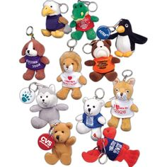 Mascot Keytag pals from www.schoolspiritstore.com