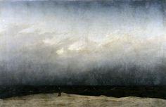 Caspar David Friedrich Szerzetes a tengerparton