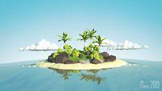 create a low poly tropical island! Blender 3D https://huit.re/7Zz3FV-H