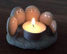 Diy Candles Ideas : 13 Creative DIY Home Decor Ideas with Pebbles and River Rocks