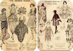some old costume patterns. I would love to try one or two of these!