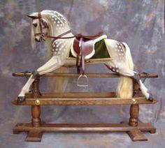 Rocking horses - traditional dappled grey rocking horses by Legends Rocking Horses