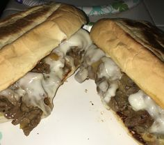 Made homemade Philly Cheese Steak Sandwiches