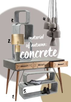 Concrete is a base material which creates a peaceful, simple atmosphere together…