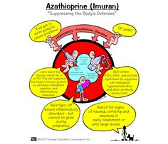 Azathioprine is used to prevent your body from rejecting a transplanted kidney. It is also used to treat symptoms of rheumatoid arthritis.
