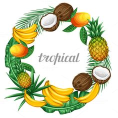 Frames with tropical fruits. by incomible on @graphicsmag
