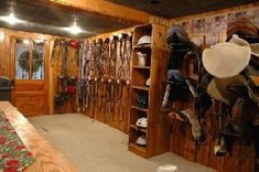 Tack room - I think cubbies for helmets should be on the list...they tend to fall off my shelves and don't always hang right on hooks.