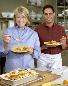Martha Stewart baked Rigatoni -This hearty pasta dish comes from John Barricelli, the manager of our prep kitchen at the television studio. It can be made the day before and reheated. Rigatoni Recipes, Baked Rigatoni, Pasta Recipes, Cooking Recipes, Dinner Recipes, Dinner Ideas, Recipe Pasta, Pasta Meals, Yummy Recipes