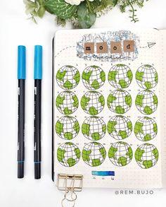 Bullet Journal Notebook, Bullet Journal Inspiration, Journal Ideas, Mickey Balloons, Mood Tracker, Pen Sets, Cute Drawings, Unique, Bujo