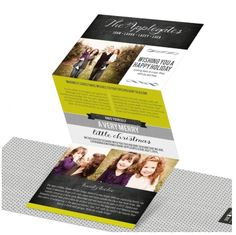 Trifold Tales holiday photo cards