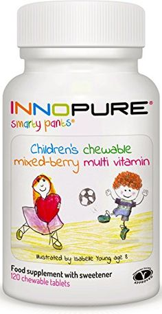 The Product SmartyPants Children's MultiVitamin 120 Chewable Tablets, Mixed Berry Flavour | Innopure  Can Be Found At - http://vitamins-minerals-supplements.co.uk/product/smartypants-childrens-multivitamin-120-chewable-tablets-mixed-berry-flavour-innopure/